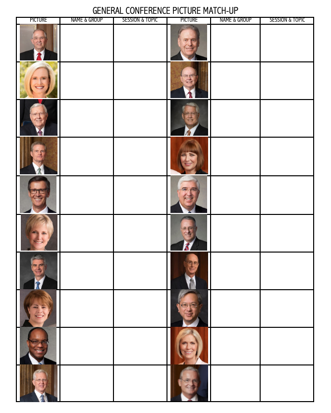 General Conference Picture Match-up